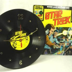 STAR-TREK-Recycled-Vinyl-Record-Clock-1970s-Audio-Stories-with-Comic-Book-Album-Jacket-0