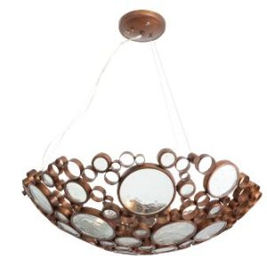 Varaluz-165P04HO-Fascination-Collection-4-Light-Pendant-Hammered-Ore-Finish-with-Recycled-Bottle-Glass-Shade-27-Inch-by-8-Inch-0