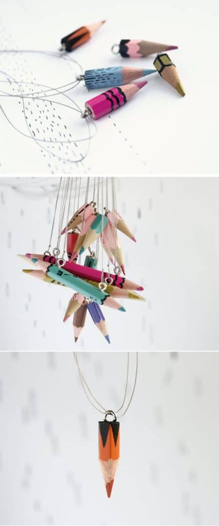 Jewelry from recycled pencils
