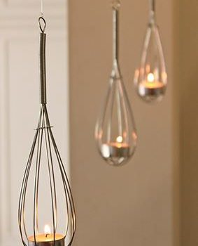 Whisk candle holder