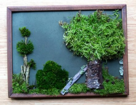 Upcycled moss