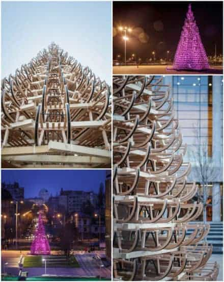 365 Sleighs For A Christmas Tree In Budapest