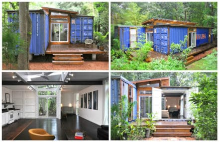 Old Shipping Containers Into Modern House In Savannah