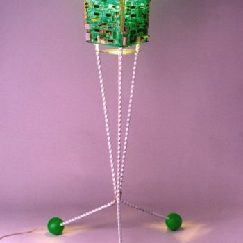 Greensat: Lamp From Old Circuit Boards