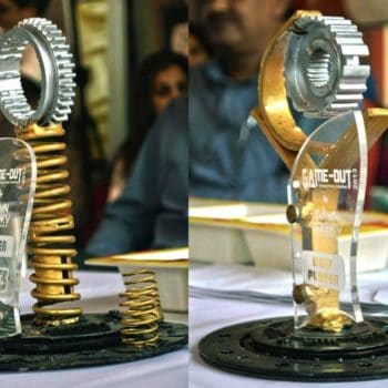 Handmade Trophies From Recycled Car Parts