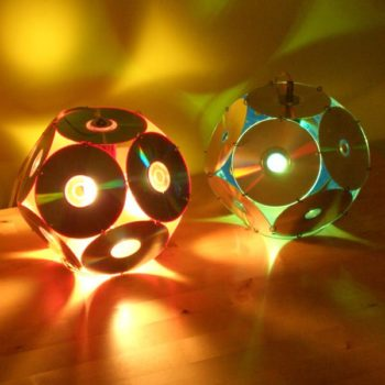 Lampshades From Old CD's