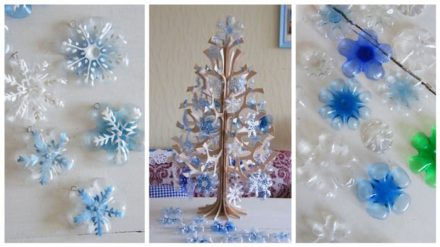 DIY : how to recycle soda bottles into christmas decorations