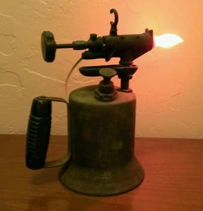 Vintage Gasoline Torch Lamp