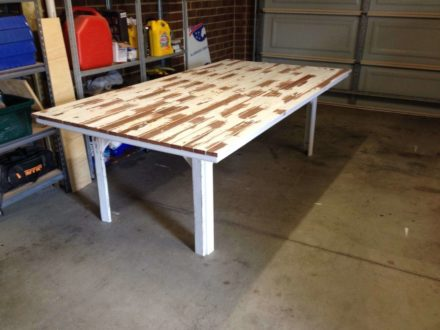 Table Made from Old Fence Pickets