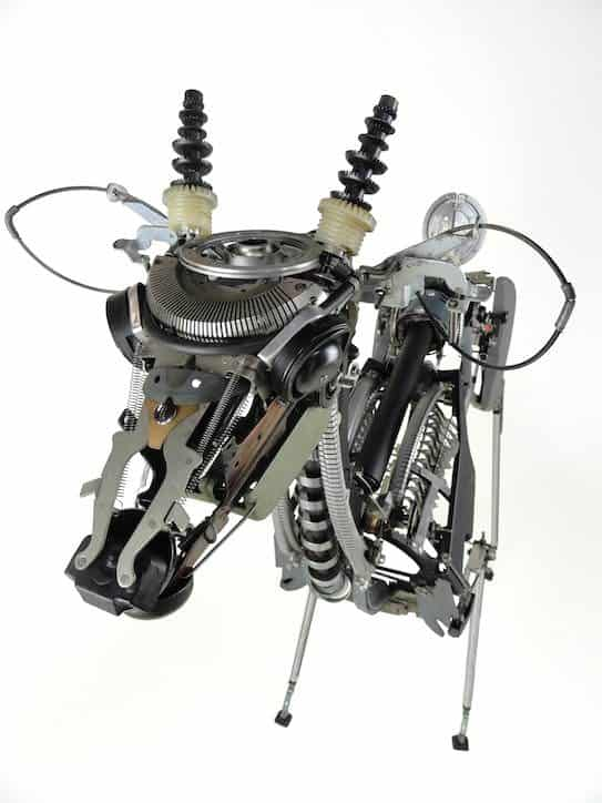 Jeremy Mayer Recycled Typewriter sculptures Recycled Art