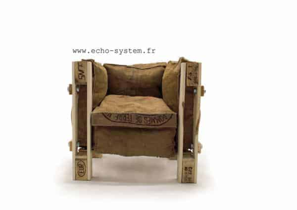 Iconic Le Corbusier Chair Made out of Junk Materials Recycled Furniture