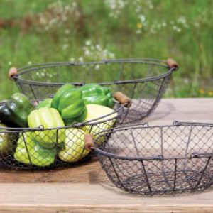 Antique-Style-Oval-Wire-Basket-Set-0