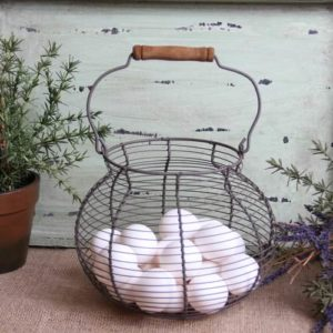 Antique-Style-Wire-Egg-Basket-Shabby-Cottage-Chic-0