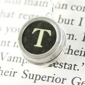 Authentic-Typewriter-Key-Pendant-and-Necklace-Initial-T-in-Black-0