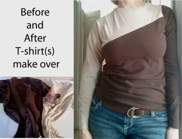 Men's Tees to Womens Tee – Upcycled Clothing Do-It-Yourself Ideas