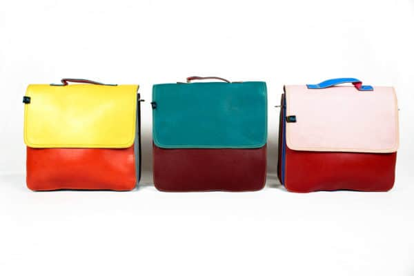 Off cut leather bags in accessories  with Recycled Handbag Bags