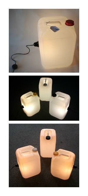 Upcycled Jerrycan Lamps