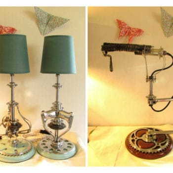 Upcycled Chain wheel Lamps