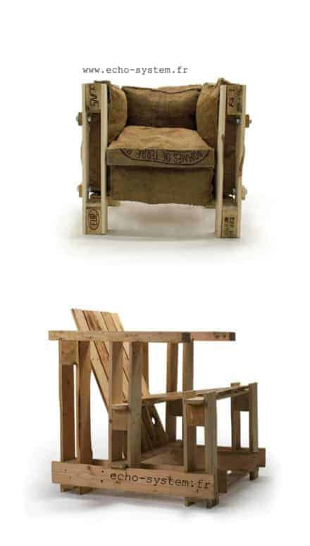 Iconic Le corbusier chair made out of junk materials