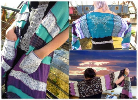 One of a kind Up-Cycled Patchwork Shawls