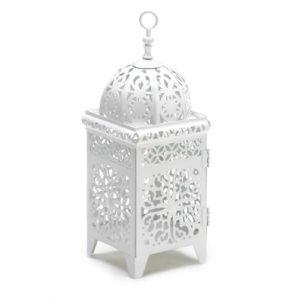 Gifts-Decor-White-Scrollwork-Candleholder-Lantern-0