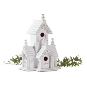 Gifts-Decor-White-Shabby-Victorian-Wood-Chic-Bird-House-0