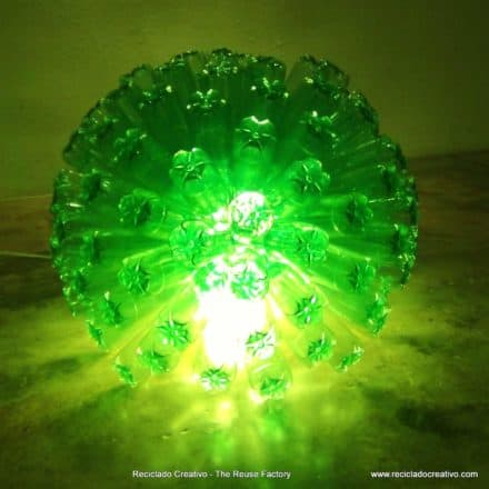 125 recycled bottles lamp