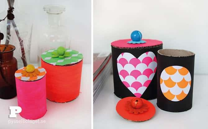 DIY: Paper Tube Jars Do-It-Yourself Ideas Recycled Cardboard