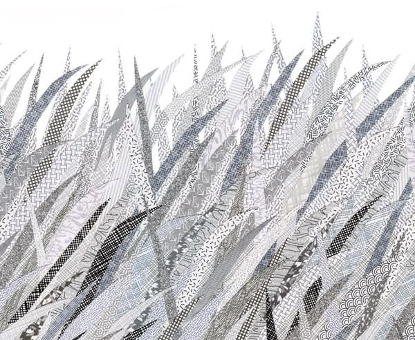 Landscapes created with discarded envelopes Recycled Art Recycling Paper & Books