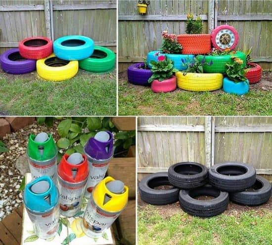 Recycling Old Tires Into Nice Garden Decoration Do-It-Yourself Ideas Garden Ideas Recycled Rubber