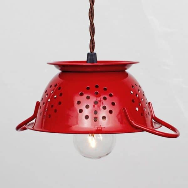 DIY : repurposed colander pendant lights in lights diy  with