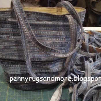 Flat felled seam Denim Bag