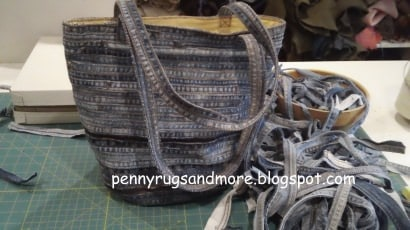 Flat felled seam Denim Bag
