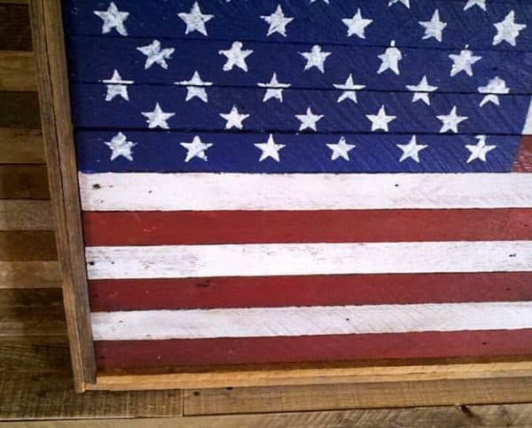 American Flags made from salvaged wood Recycled Art Wood & Organic