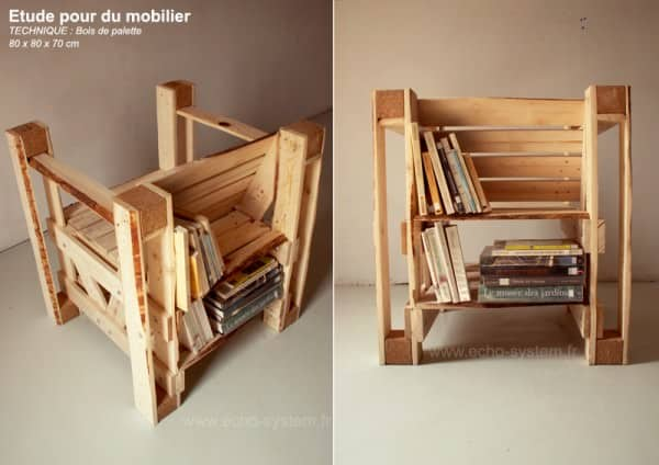 Pallets & Bookcases chair in furniture pallets 2  with upcycled furniture Pallets design Chair