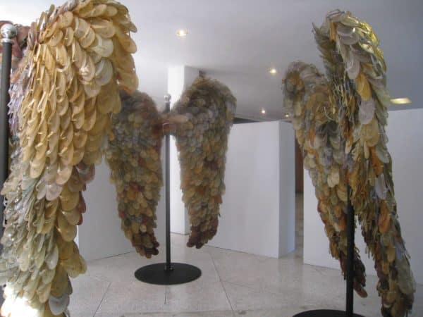 Flipflops Angel's Wings Recycled Art