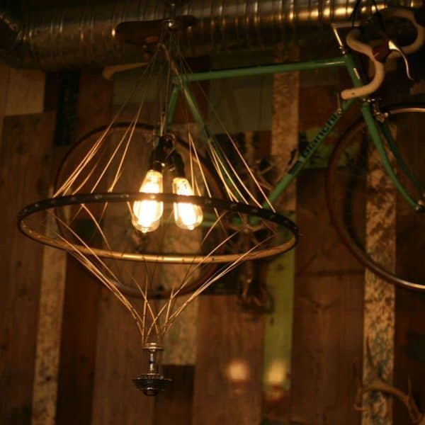Vintage Bike Wheel Chandelier Bike & Friends Lamps & Lights