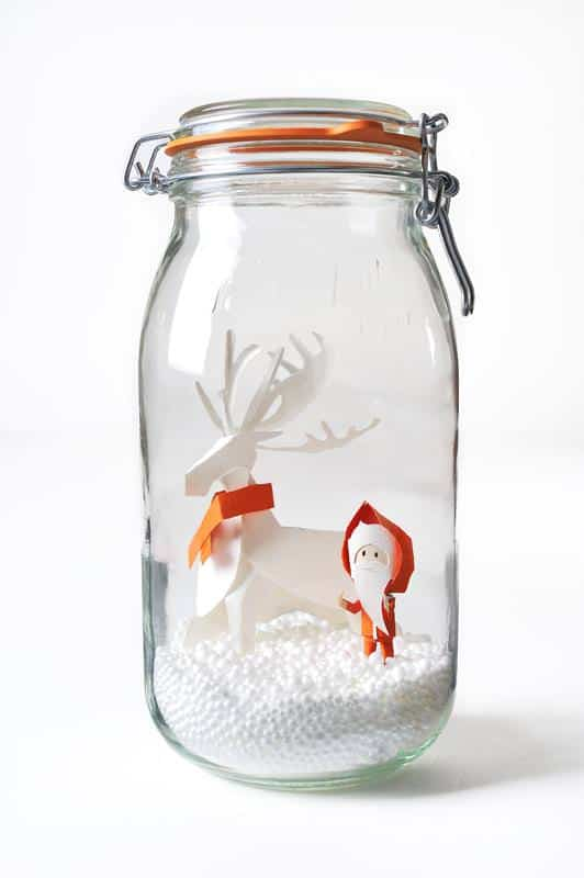 Le Parfait Winter Decoration Do-It-Yourself Ideas Recycled Glass