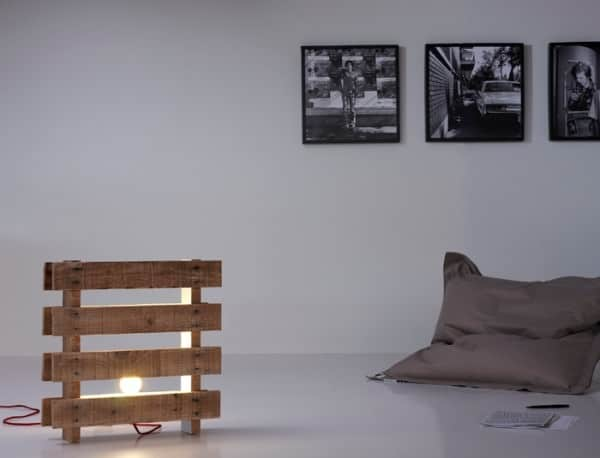 Design Pallet Lamps in pallets 2 lights  with Recycled Pallets Light Lamp