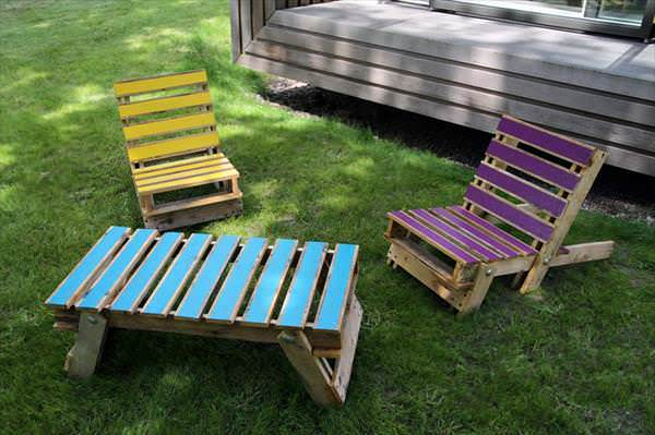 Pallet garden chairs in furniture pallets 2 garden 2  with Upcycled Pallets Garden ideas Chair