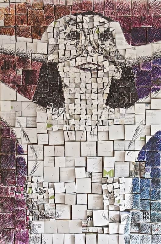 Three-dimensional recycled collages Recycled Art