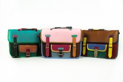 Off-cut leather bags