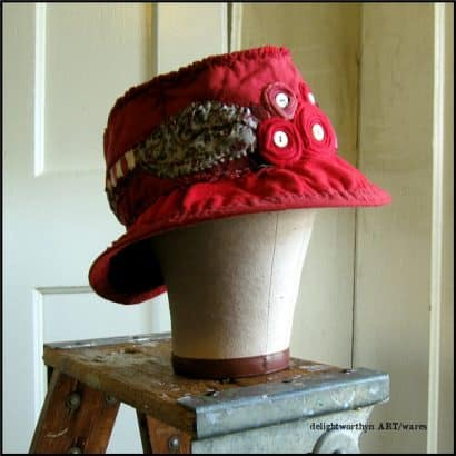Vintage Style Hats From Recycled Tee Shirts