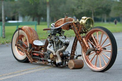 Amazing Steampunk motorcycle