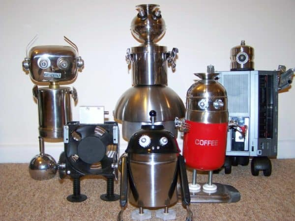 Gardiner's Recycled Robots Recycled Art