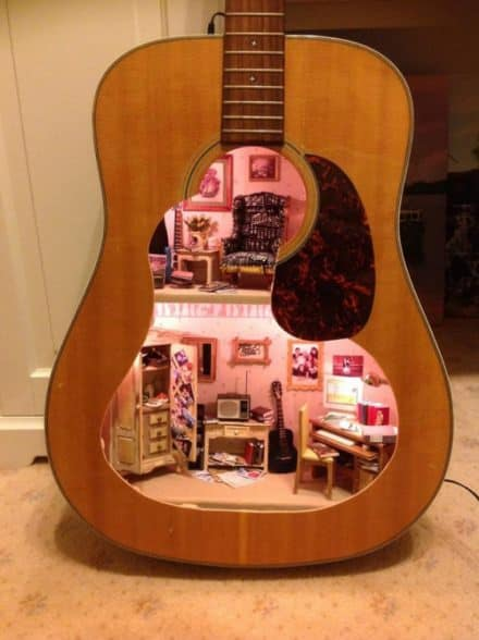 Guitar doll house