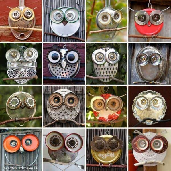 Recycled Owls in art  with Recycled Art Recycled Owls Metal