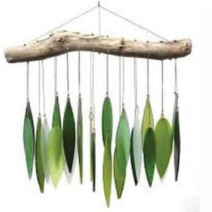 Blue Handworks Spring Leaves Glass Wind Chime 0 300x300 Blue Handworks Spring Leaves Glass Wind Chime in  with