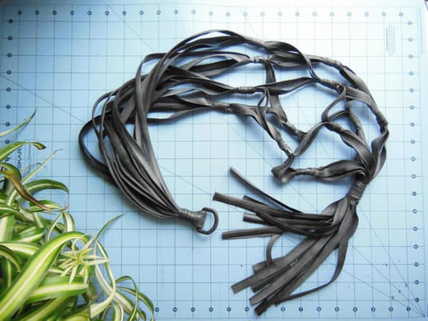 Recycled inner tube plant hanger Recycled Rubber