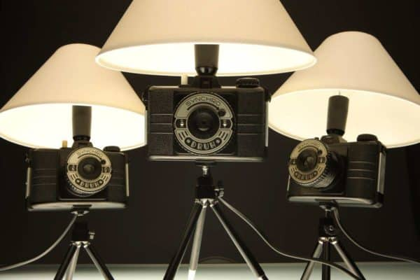 Photo Lamp DRUH in lights  with Vintage recycling Light Lamp Handmade